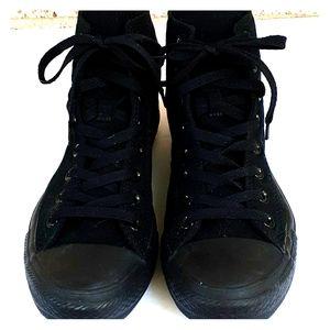 Converse All Star Solid Black Hi Top